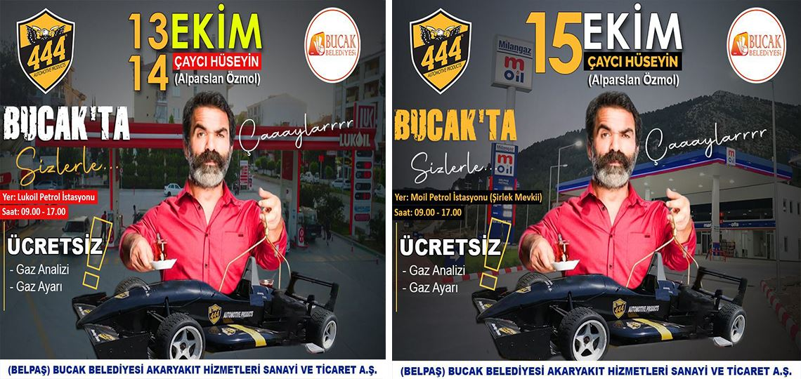 """ÇAYCI HÜSEYİN"""" BUCAK'A GELİYOR"""